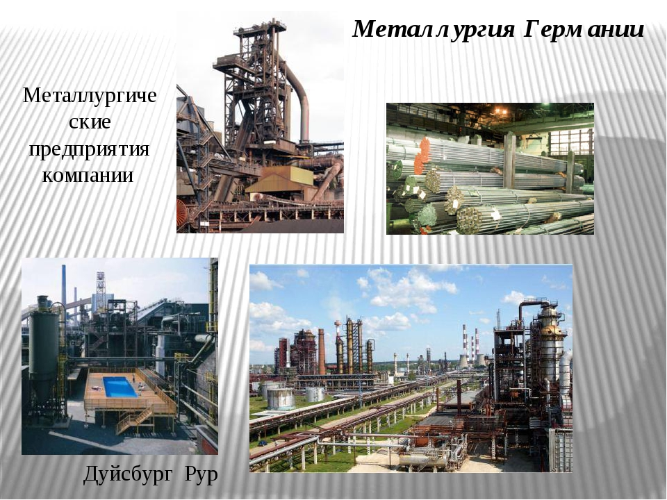 Металлургия Германии Дуйсбург Рур Металлургические предприятия компании