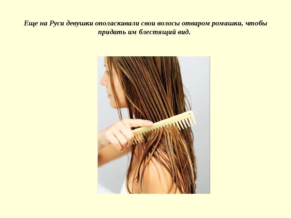 Еще на Руси девушки ополаскивали свои волосы отваром ромашки, чтобы придать и...