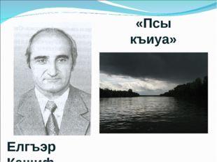 Елгъэр Кашиф «Псы къиуа»
