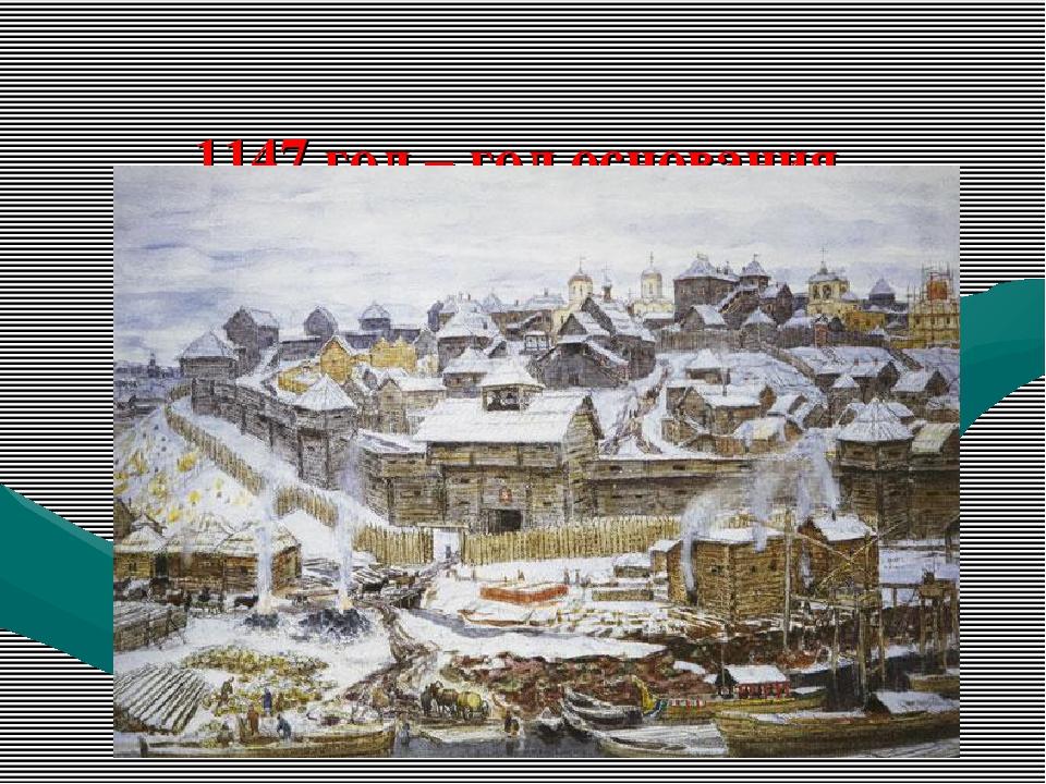 1147 год – год основания Москвы