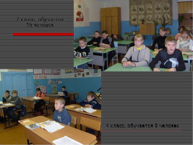 4 класс, обучается 9 человек 7 класс, обучается 15 человек