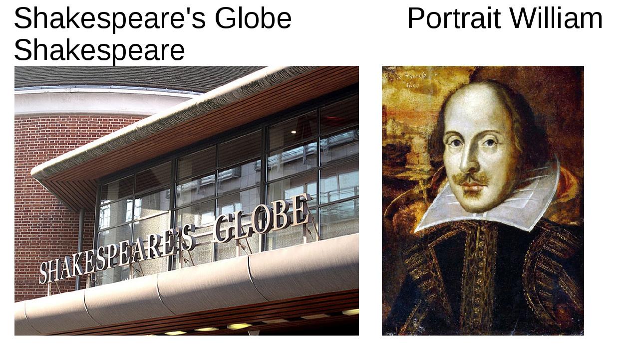 Shakespeare's Globe Portrait William Shakespeare