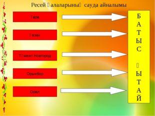 Б А Т Ы С Қ Ы Т А Й Тара Қазан Төменгі Новгород Орынбор Орал Ресей қалаларыны