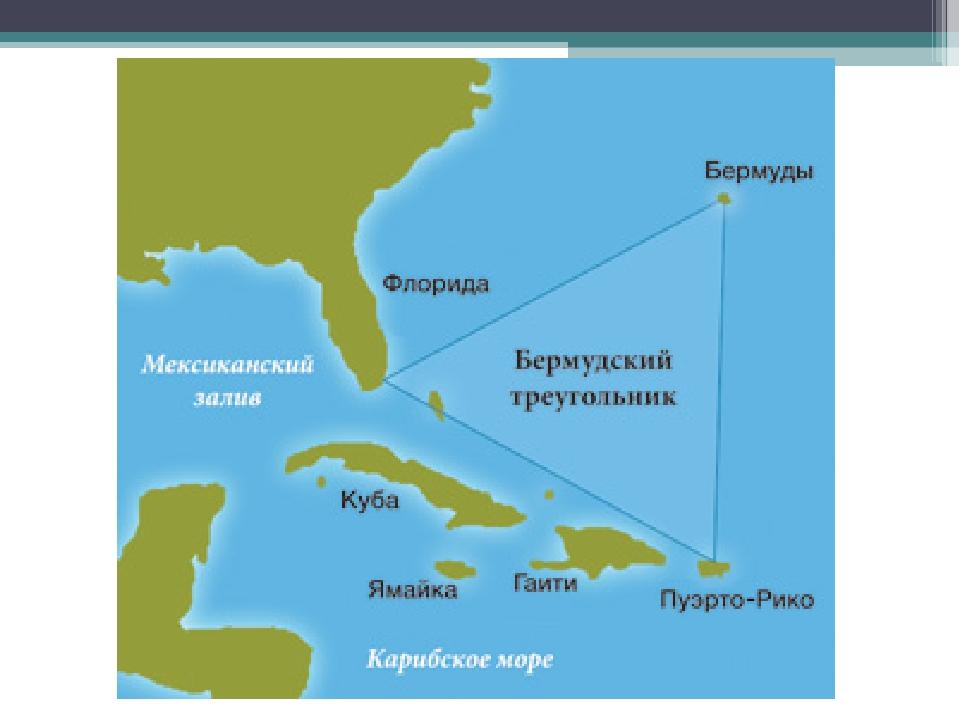 Бермудский треугольник картинки карта