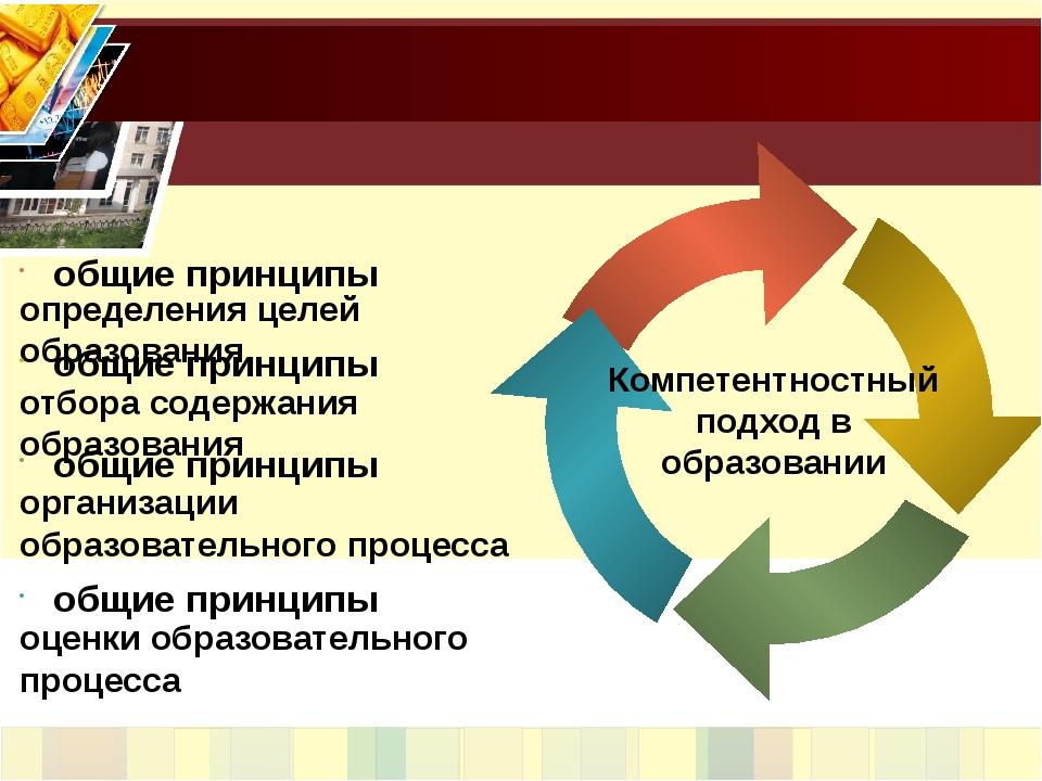 Компетентностный подход в образовании общие принципы определения целей образо...