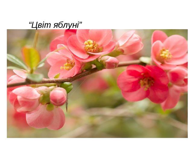 """""""Цвіт яблуні"""""""