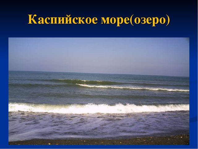 Каспийское море(озеро)