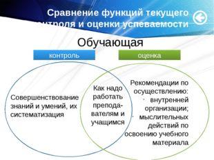 Сравнение функций текущего контроля и оценки успеваемости Совершенствование