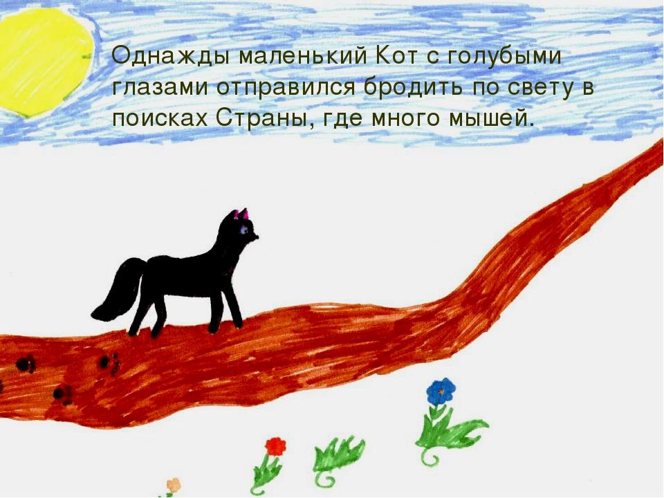 Однажды маленький Кот с голубыми глазами отправился бродить по свету в поиска...