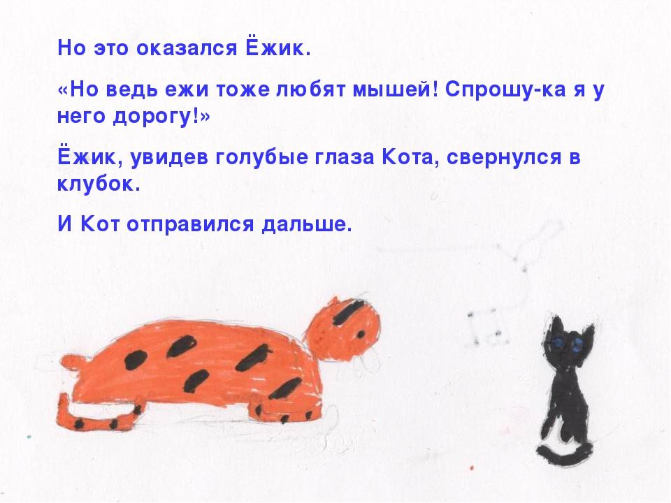 Но это оказался Ёжик. «Но ведь ежи тоже любят мышей! Спрошу-ка я у него дорог...