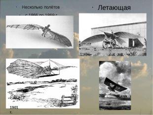 Несколько полётов с 1866 по 1869 г. Летающая машина, Альбатрос II, 1868 г. 19
