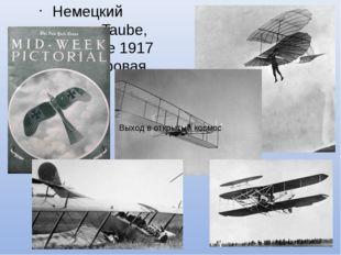 Немецкий моноплан Taube, изображение 1917 года. (1 мировая война) Выход в отк