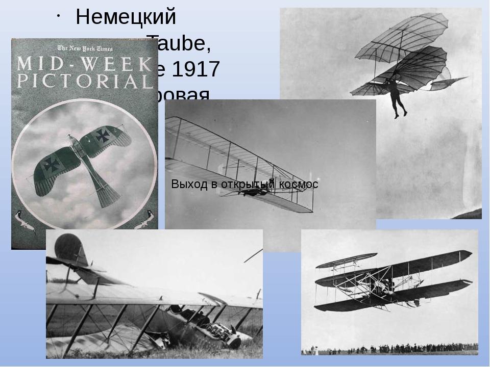 Немецкий моноплан Taube, изображение 1917 года. (1 мировая война) Выход в отк...