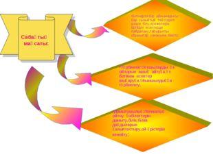 Дамытушылық:Логикалық ойлау қабілеттерін дамыту,білік,білім дағдыларын қалыпт