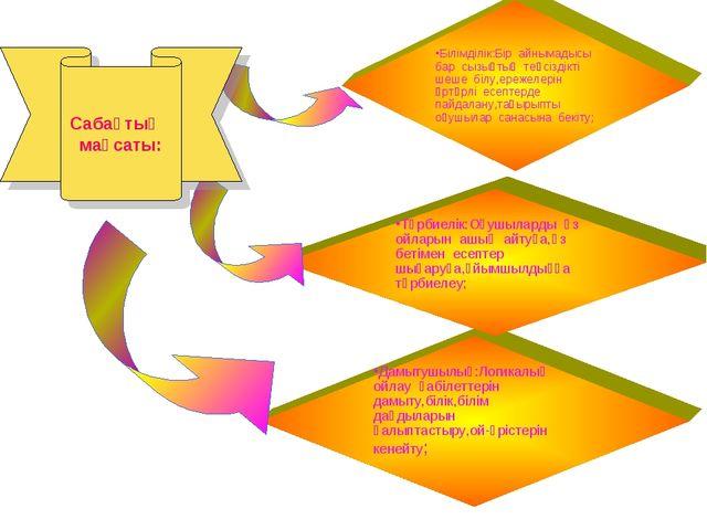 Дамытушылық:Логикалық ойлау қабілеттерін дамыту,білік,білім дағдыларын қалыпт...
