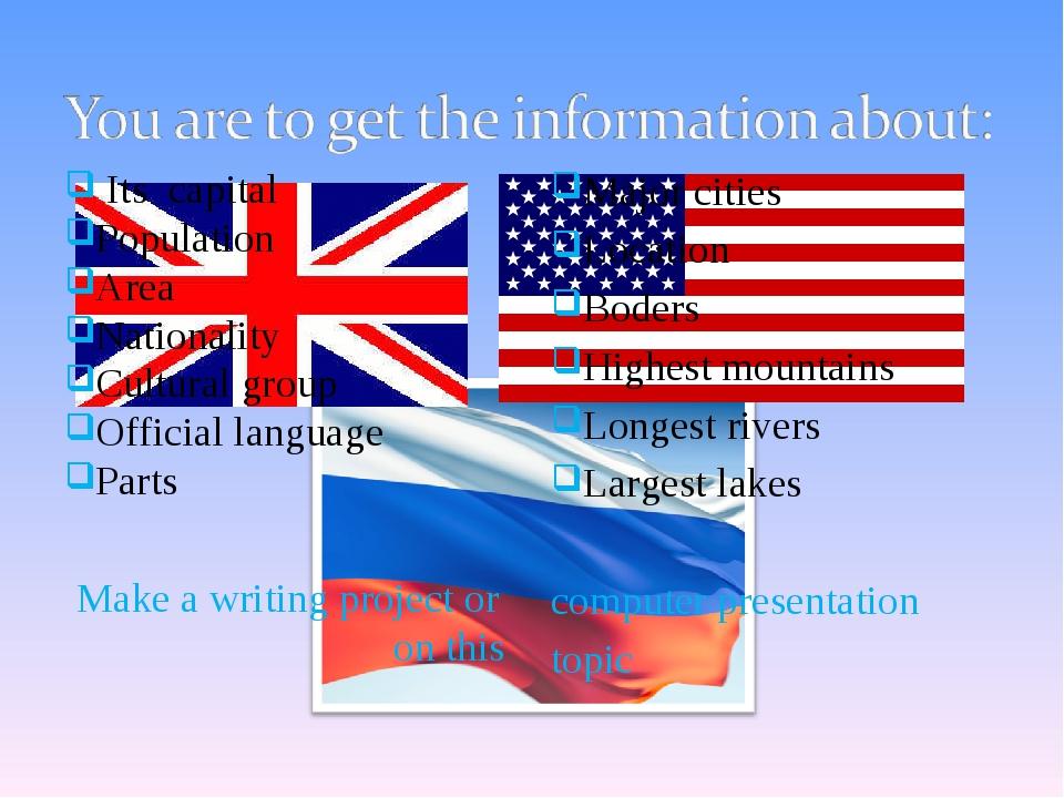 Its capital Population Area Nationality Cultural group Official language Par...
