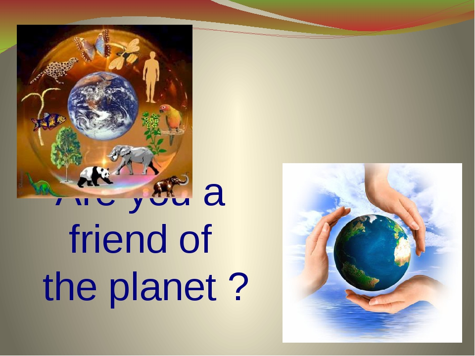 Are you a friend of the planet ?
