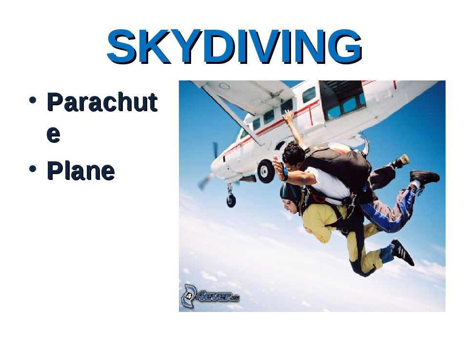 SKYDIVING Parachute Plane