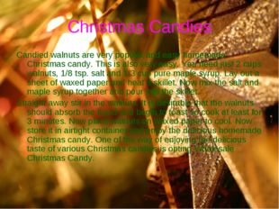 Christmas Candies Candied walnuts are very popular and easy homemade Christma