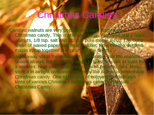 Christmas Candies Candied walnuts are very popular and easy homemade Christma...