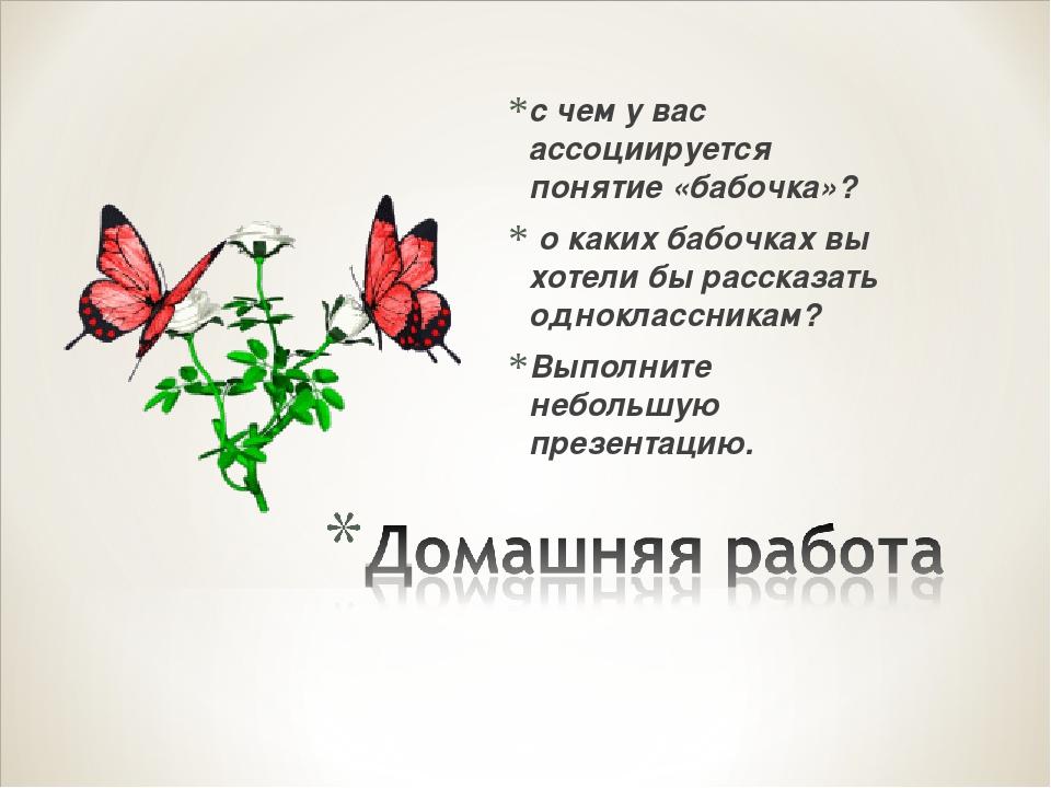 с чем у вас ассоциируется понятие «бабочка»? о каких бабочках вы хотели бы ра...
