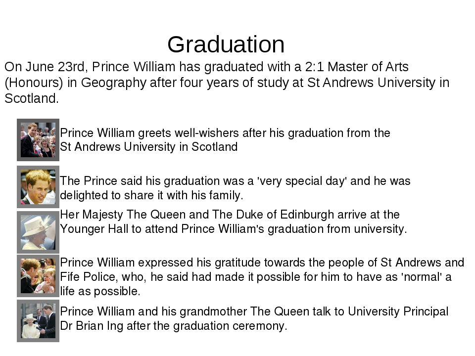 Graduation Prince William greets well-wishers after his graduation from the S...