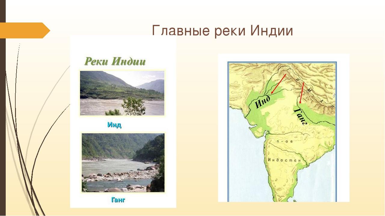 Главные реки Индии