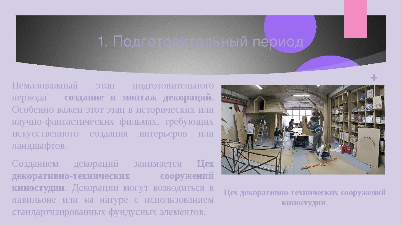 Немаловажный этап подготовительного периода – создание и монтаж декораций. Ос...
