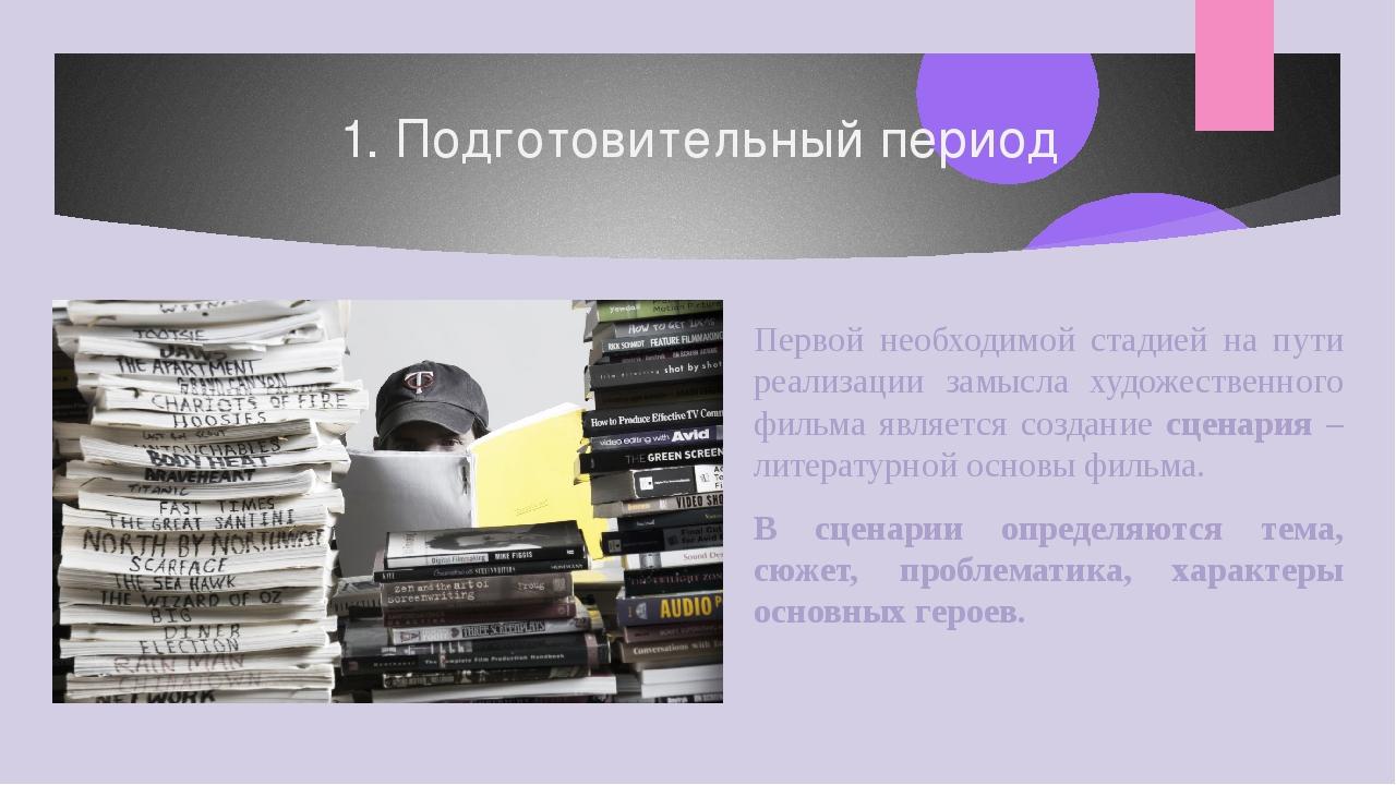 1. Подготовительный период Первой необходимой стадией на пути реализации замы...