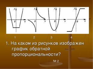 1 2 3 4 1. На каком из рисунков изображен график обратной пропорциональности