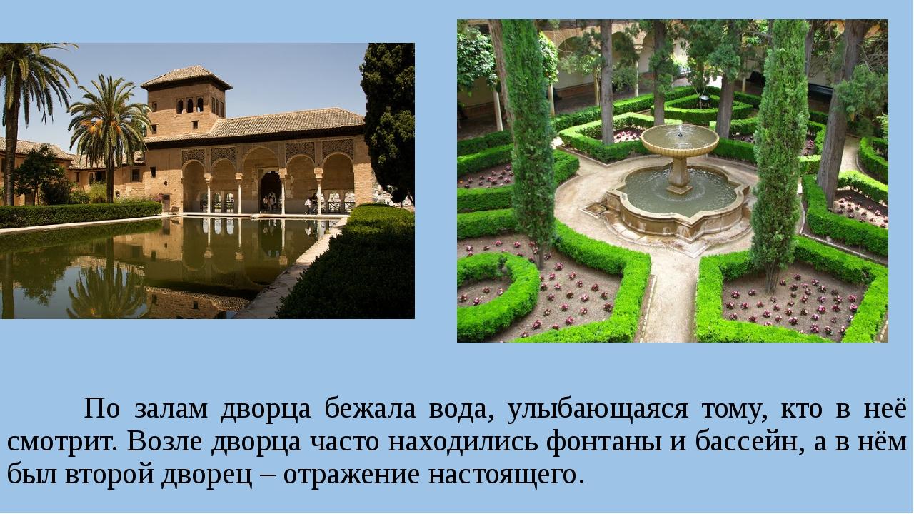 По залам дворца бежала вода, улыбающаяся тому, кто в неё смотрит. Возле двор...