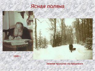 Ясная поляна 1909 г. Зимняя прогулка на прешпекте