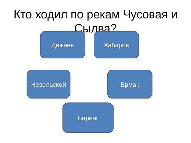 Кто ходил по рекам Чусовая и Сылва? Дежнев Хабаров Невельской Ермак Беринг