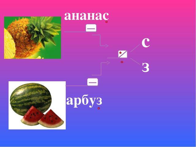с з арбуз ананас