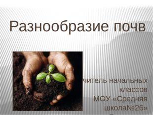 Разнообразие почв учитель начальных классов МОУ «Средняя школа№26» г. Ярослав