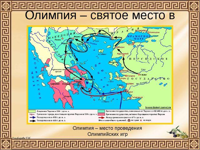 Олимпия – святое место в Греции Олимпия – место проведения Олимпийских игр Ол...