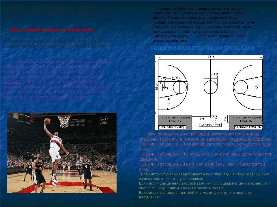 В баскетбол играют две команды, от каждой из которых на площадке одновременно...