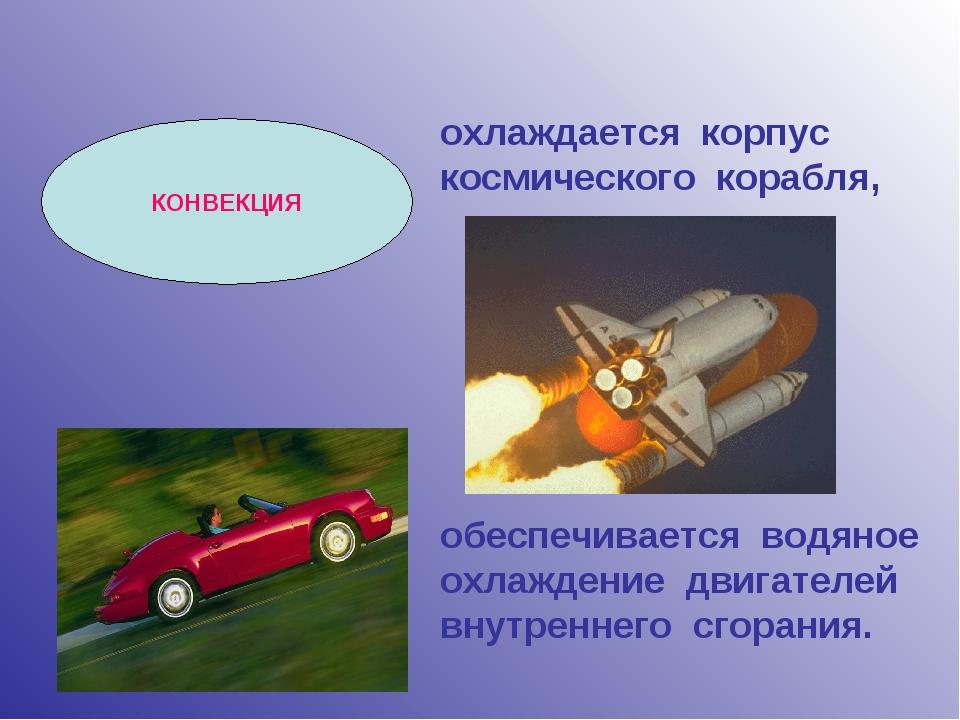 охлаждается корпус космического корабля, обеспечивается водяное охлаждение дв...