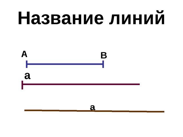 Название линий А В а а