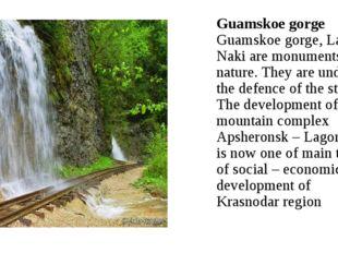 Guamskoe gorge Guamskoe gorge, Lago-Naki are monuments of nature. They are un