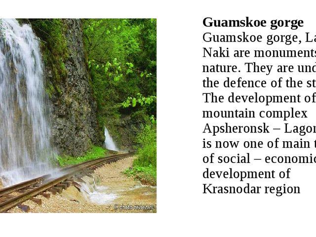 Guamskoe gorge Guamskoe gorge, Lago-Naki are monuments of nature. They are un...