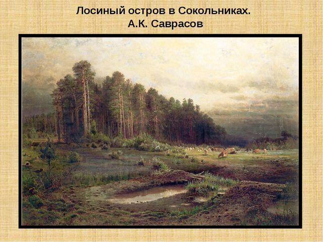 Лосиный остров в Сокольниках. А.К. Саврасов
