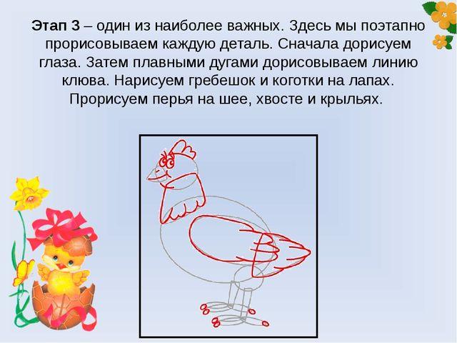 Этап 3 – один из наиболее важных. Здесь мы поэтапно прорисовываем каждую дета...