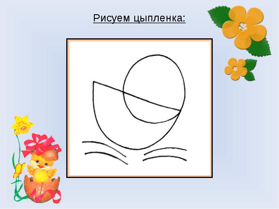 Рисуем цыпленка: