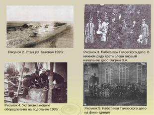 Рисунок 5. Работники Таловского депо на фоне здания Рисунок 3. Работники Тало