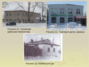 Рисунок 10. Таловская районная библиотека Рисунок 12. Колбасный цех Рисунок 1