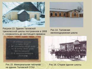 Рисунок 13. Здание Таловской трехклассной школы построенное в 1908 г., сохран