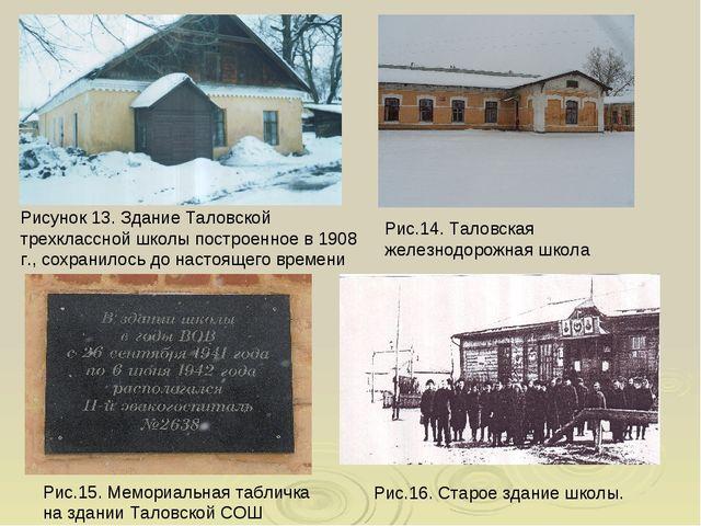 Рисунок 13. Здание Таловской трехклассной школы построенное в 1908 г., сохран...