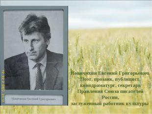 Новичихин Евгений Григорьевич. Поэт, прозаик, публицист, кинодраматург, секре