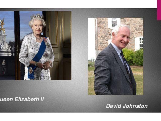 Queen Elizabeth ii David Johnston